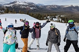 SKIING WITH THE CREW
